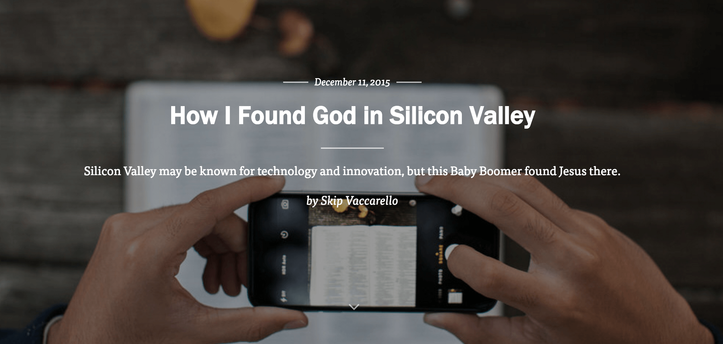 How I found God in Silicon Valley